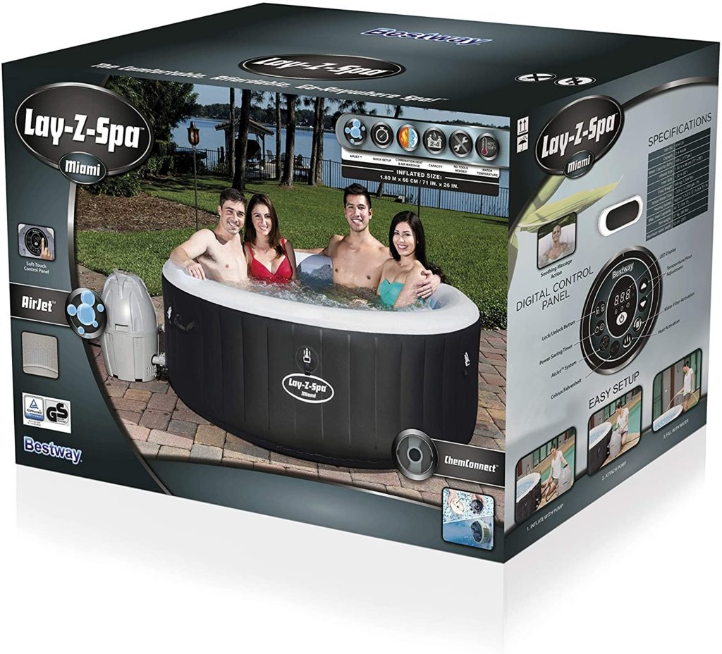 Lay Z Spa Miami aufblasbarer Whirlpool