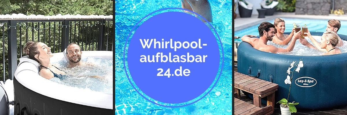Collage von aufblasbaren Outdoor Whirlpools