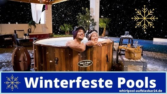 Auszeit im Whirlpool im Winter genießen