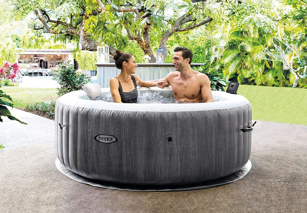 Intex Whirlpool Pure SPA Bubble Massage Greywood Deluxe